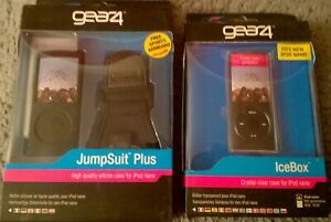 (GEAR4) IPOD NANO PROTECTIVE CASES - (JUMPSUIT PLUS + ICEBOX) NEW IN BOX