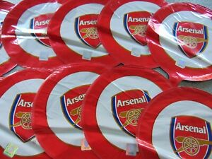 "ARSENAL FC FOOTBALL PARTY 8"" FOIL BALLOON x 10 UNUSED BALLOONS"