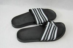 Sandals Slides Black & White Size Large  12 / 13 Men's