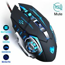 Gaming Mouse 8D With Adjustable Wired Optical LED USB Cable Silent Mouse For PC