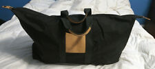 La Bagagerie Large Capacity Canvas Leather Travel Bag Luggage Duffel FRANCE