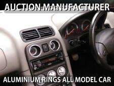 MG MGF  / MG TF 01-05 Chrome Heater Surrounds Rings Brushed Matt Satin Aluminium