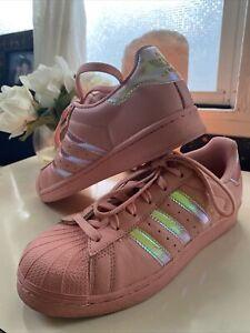 Adidas Originas Superstar J Hologram Iridescent Trace Pink AC7706   7W