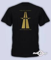 KRAFTWERK Tribute 2020  AUTOBAHN RETRO TECHNO Mens T-Shirt Black Gold