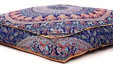 "Indian Mandala Floor Pillow Elephant Meditation Cushion Cover Dog Bed Square 35"""