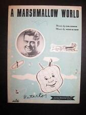A Marshmallow World Sheet Music Vintage 1950 Arthur Godfrey Peter De Rose (O)