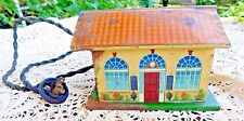 ANTIQUE TIN ELECTRIC TRAIN STATION HOUSE VERY OLD VERY COOL