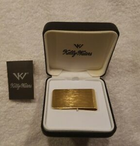 Kelly Waters Gold Plated Money Clip NEW - Never Used, In Original Box