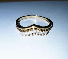 Ring 750 Gold Schmuck 0,2 ct 9 Brillanten 18K Größe 52 Altschliff guter Zustand