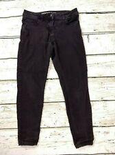 Ladies Next Skinny Stretch Slim Cropped Capri Taper Jeans Black Size UK 14