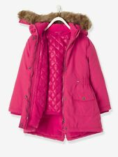 Girls' 3-In-1 Parka With Polar Fleece Lining Pink Light Solid 4 Years B01