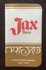 VTG OLD POCKET NOTE BOOK PAD JAX BEER JACKSON BREWING CO ADVERTISING NEW ORLEANS