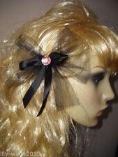 Accessoires de coiffure rose en satin pour femme