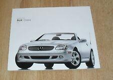 Mercedes SLK Range Brochure 2003 - US Market - 230K 320 SLK 32 AMG