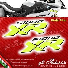 2 Adesivi Serbatoio Fianco Moto BMW XR s1000 Yellow FLUO