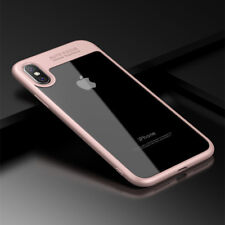 For iPhone X 8 7 6s Plus 10 Luxury Ultra Slim Clear Shockproof Bumper Case Cover