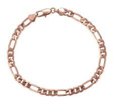Rose Gold Men's Women's Curb Link Bracelet