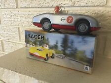 Silver Racer Number 7 Classic Tin Car classic wind up tin toy race car New  DL