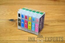 Compatible Epson T0801 - T0806 Refillable Refill Ink Cartridge Set (Empty)