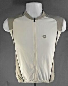 Pearl Izumi Cycling Wind Vest zip up white gray reflective - Men's Small