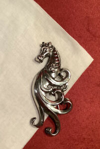 Fab Vintage Finely Crafted Sterling Silver Fantasy Horse Head Brooch / Pin (LF)