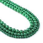 "Deep Green Lava Beads 6 8 10mm volcanic stone beads wholesale 15"" Full Strand"