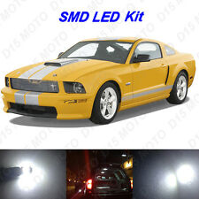 7 x White SMD LED interior Bulbs + Reverse + Tag Lights for 2005-2009 Mustang