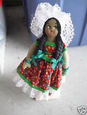 "Old Cloth Ethnic Woman Doll 10"" Tall Look"