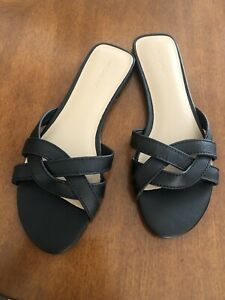 Witchery Black  Size 41 Leather Slides  Rrp$130 Sell $85 Delivered