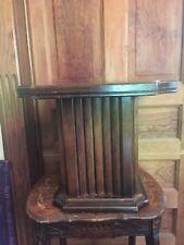 Vintage Mid Century 1970's Mersman Wood Pedestal End Table