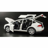 Tesla Model X90 1/32 Scale Diecast Alloy Pull Back Car Birthday Gift for Kids