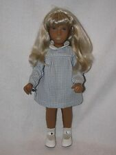 "16"" Blonde Haired Sasha Doll With Tag England Dressed In Blue Gingham"