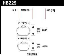 Hawk Performance HB229E.580 Low To Intermediate Torque Disc Brake Pads
