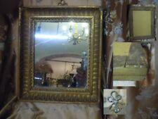 Antica Specchiera '800 Cornice Intagliata Specchio al Mercurio