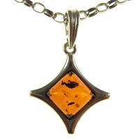 GIFT BOXED BALTIC AMBER STERLING SILVER 925 WOMEN'S PENDANT JEWELLERY JEWELRY