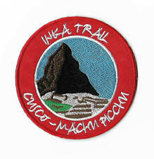 Inca Trail Machu Picchu Patch Embroidered Iron on Badge Souvenir Trek Peru Map