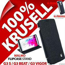 Krusell Malmo Flip Case Black Cover Wallet Folio for LG G3 S / G3 Beat /G3 Vigor