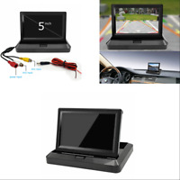 5'' Foldable TFT LCD HD Monitor Car Reverse Rear View Monitor for Camera DVD VCR