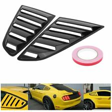 Black Side Vent Window Scoop Louver Cover Trim For Ford Mustang 2015-2018