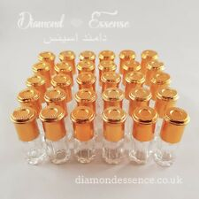 Brand new 12 x 3ml empty attar glass perfume bottles (With roller balls).