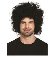 Black Afro Hair Wig Adult 70's 80's Disco Curly Wig Fancy Dress Costume U00 609