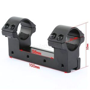 """One Piece Rifle Scope Mount  25.4mm 1"""" High Profile Rings fit 11mm Dovetail Rail"""