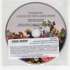 (GG643) Darkstar, A Days Pay For A Days Work - 2012 DJ CD