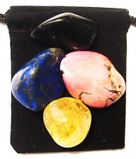 MULTIPLE SCLEROSIS Tumbled Crystal Healing Set = 4 Stones + Pouch + Card