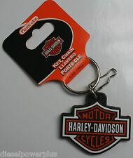 Harley Davidson HD Logo keychain badge holder clip willie G key ring Motorcycle