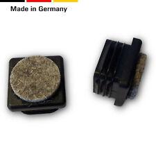 4 Fussstopfen/Gleiter mit Filz, für 4-kt. Rohre, Kunststoff/Filz, Schwarz