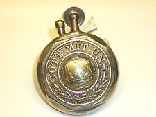 "TRENCH ART WW2 IMPERIAL ARMY VINTAGE BRASS POCKET LIGHTER ""GOTT MIT UNS"" - RARE"