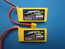 2X ZIPPY COMPACT 1000mAh 3S 11.1V 35C 45C LIPO BATTERY XT60 PLANE HELI TRUCK RC