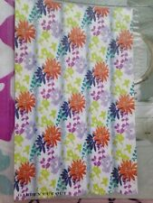 "NEW Max Studio Home Fabric Shower Curtain ""Garden Cut Out"" Floral Cotton Blend"