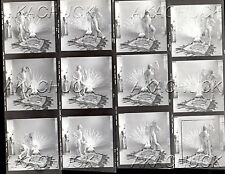 Nude Poses w Bird Feathers R HENDRICKSON Negative Photograph Contact Sheet D1019